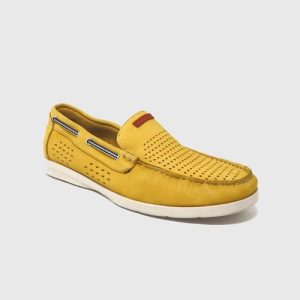 Nautical Caravel in yellow leather