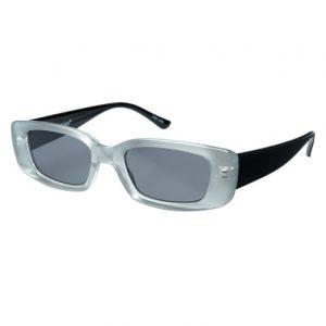 VERTIGO Sunglasses – Black & Transparent frame with Grey lenses – Sunheroes