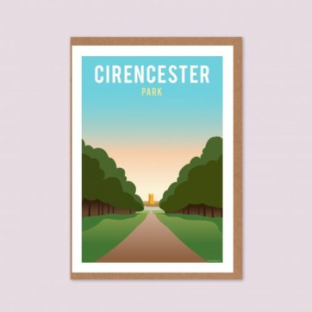Cirencester Park Greeting Card