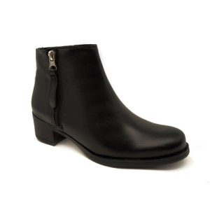 Glorianne high heel ankle boots in black leather