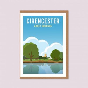 Cirencester Abbey Grounds Greeting Card