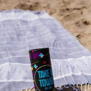 Take A Towel Hammam fouta towel zwart space TAT 1-1