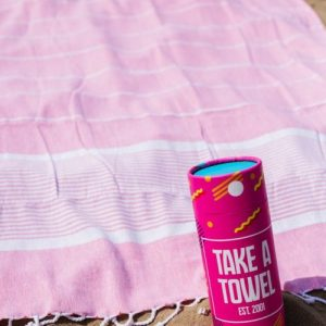 Take A Towel Hammam towel fouta pink space TAT 1-2