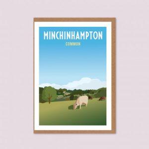 Minchinhampton Common Greeting Card
