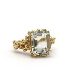 Gold giselle statement ring