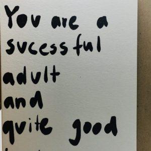 A6 Card x Adult