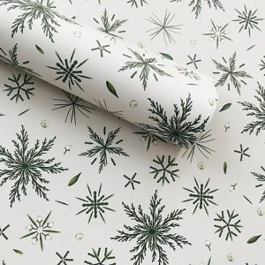 Festive Foliage Ivory Wrapping Paper (10nos.)