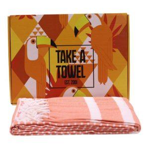 Take A Towel Hammam fouta Towel Orange Toekan TAT 4A-6