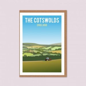Cotswold Hills Greeting Card