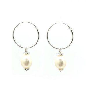 Pearl Hoop Silver - AC132n 700x 500x500
