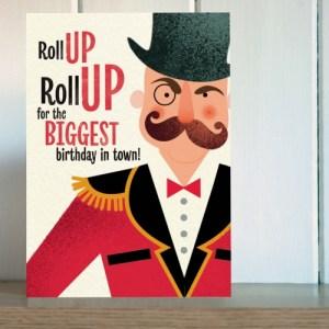 Big Top Ringmaster Birthday Card