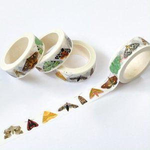 British Moths Washi Tape