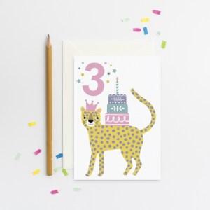 Age 3 Leopard card