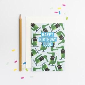 Birthday Dude Croc Pattern card