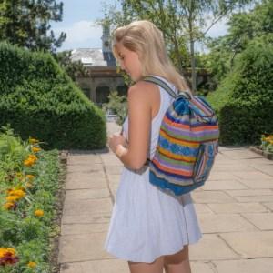 Pinzon Escolar Hippie Backpack Ladies Men Schoolbag Drawstring Bag