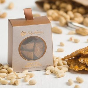 Dairy Free Rock Salted Peanut Brittle - Delectables 0388 DF Peanut Brittle Box Lifestyle 500x500