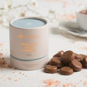 Himalayan Salted Caramels - Delectables 0470 Tube Himalayan Salted Caramel Tub Lifestyle 500x500