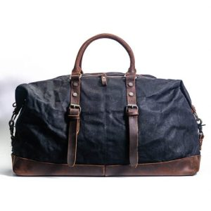 Amsterdam Canvas Duffle Bag – Black
