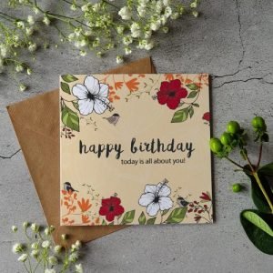 Happy Birthday – Today is all about you! – Pack of Six Cards