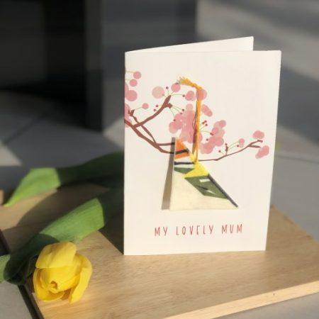 Velvet Goldcrest mum card