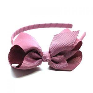 Bow Headband Rosy Mauve