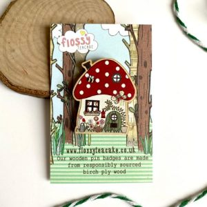 Flossy Teacake Toadstool House Wooden Pin Badge - IMG 20210301 WA0040 500x500