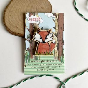 Flossy Teacake Fox Wooden Pin Badge - IMG 20210301 WA0041 500x500