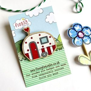 Flossy Teacake Caravan Wooden Pin Badge - IMG 20210302 WA0000 500x500