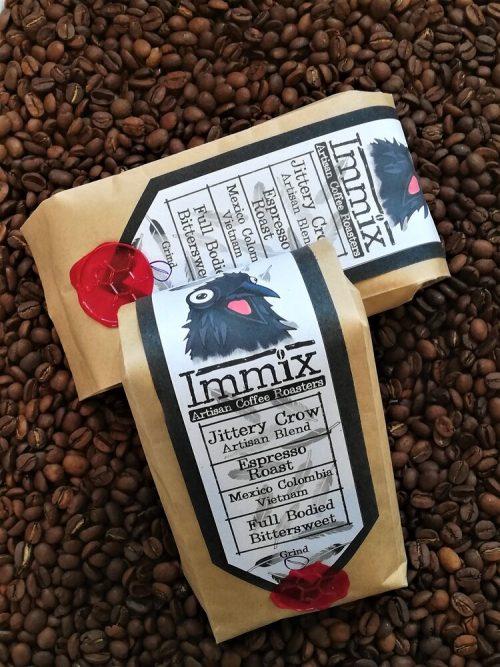 1kg Jittery Crow – Artisan Blend – Espresso Roast (Dark) (Pack of 6)