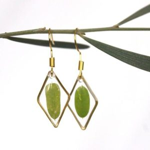 Leaf earrings, small