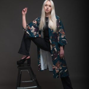 Floral Teal Kimono