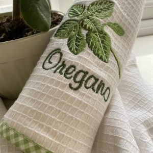 Oregano Embroidered Tea Towel - IMG 7233 3 500x500