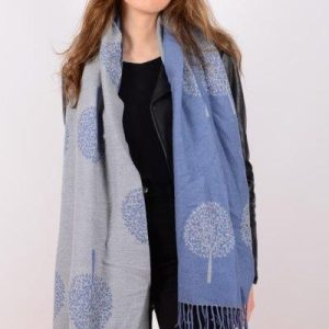 Blue & Grey Double Sided Tree of Life Scarf