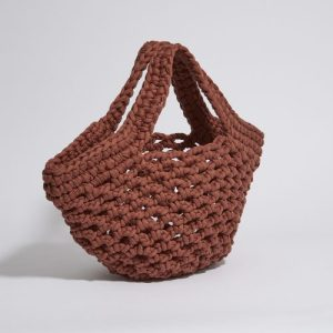 """Ingrid"" basket bag terracotta"