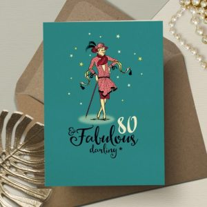 L&G196 Fabulous 80th birthday card (x6 cards) - LG196 80 and fabulous darling 500x500