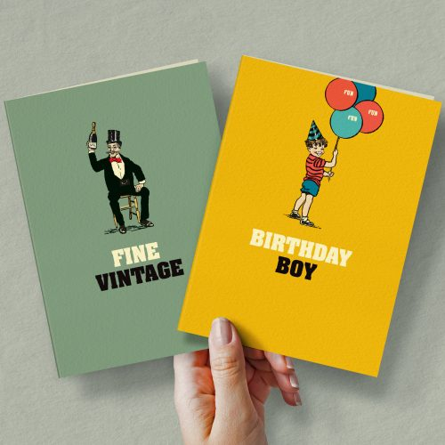 'The Gentlemen' bundle. A selection of eight best sellers with 6 cards of each design.