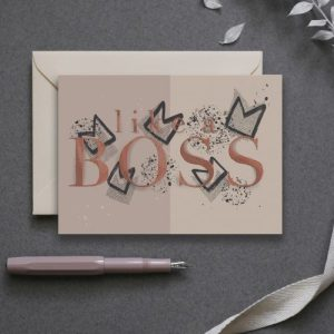 Like a Boss – Greeting Card pack of 6