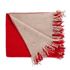 Double-sided blanket cashmere and red wool