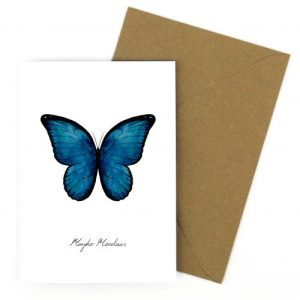 Morpho Butterfly A6 Greetings Card