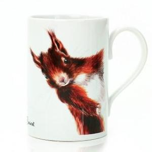 Red Squirrel Porcelain Mug - Mug   Red Squirrel