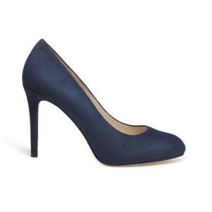 Carmen Classic High Heel Court Shoe – Navy
