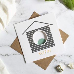 Birdhouse Card - Nesting - Nesting square 500x500