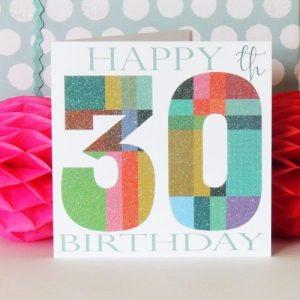 OF30 glittery thirty card - OF30b 500x500