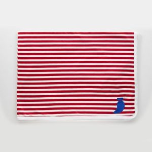 Double-sided cotton blanket Pablo red