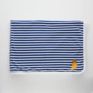 Double-sided cotton blanket Pablo blue