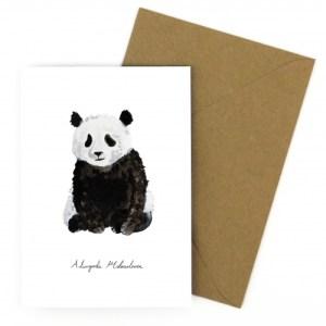 Giant Panda A6 Greetings Card