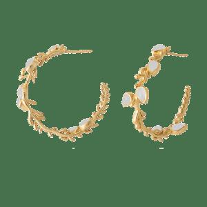 Lika White Earrings - Pendientes Lika Blancos 1000x1000 crop center 500x500