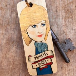 Princess Diana Character Wooden Keyring – RWKR1 – Pack of 6