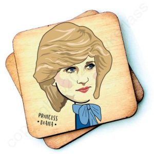 Princess Diana Character Wooden Coaster – RWC1 – Pack of 6