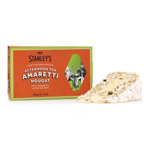 """Amaretti Nougat (Classic Nougat with an Amaretto Filling and Amaretti Pieces)"" - STAN026 AmarettiNougat Side 500x500"